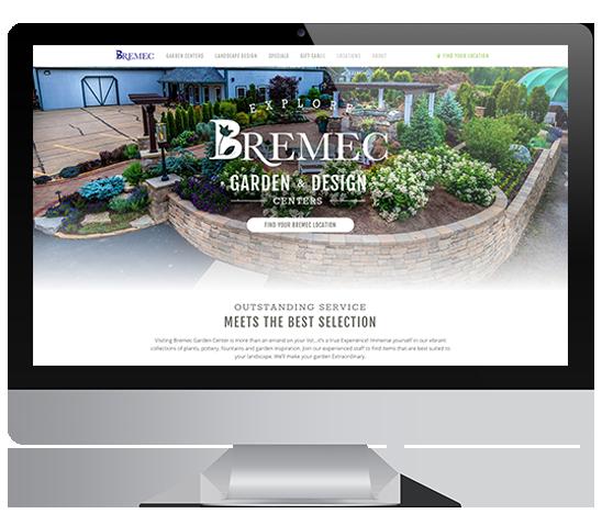 Bremec Garden & Design Centers Website Mockup